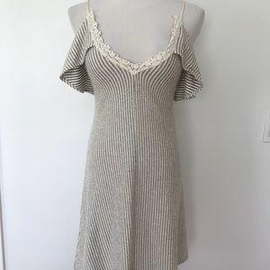 Zara W/B knit striped sweater and